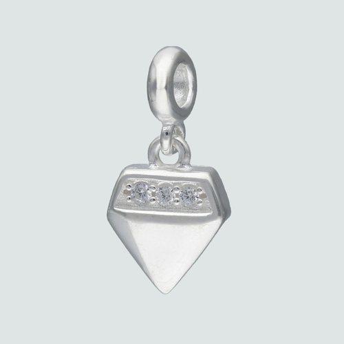 Colgante para Alfiler Corte Diamante con Circones
