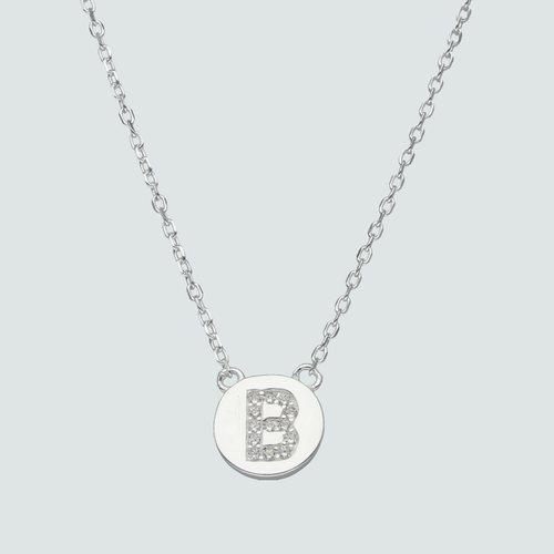 Collar Circulo Letra B con Circones