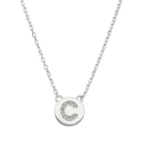 Collar Circulo Letra C con Circones