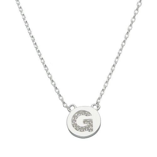 Collar Circulo Letra G con Circones