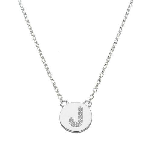 Collar Circulo Letra J con Circones