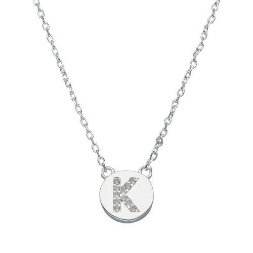 Collar Circulo Letra K con Circones