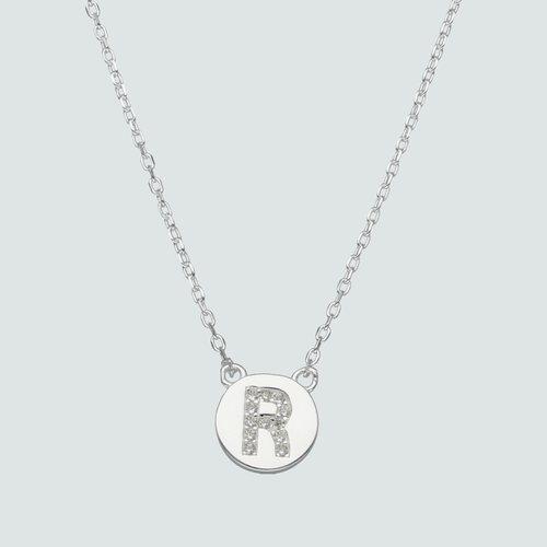 Collar Circulo Letra R con Circones