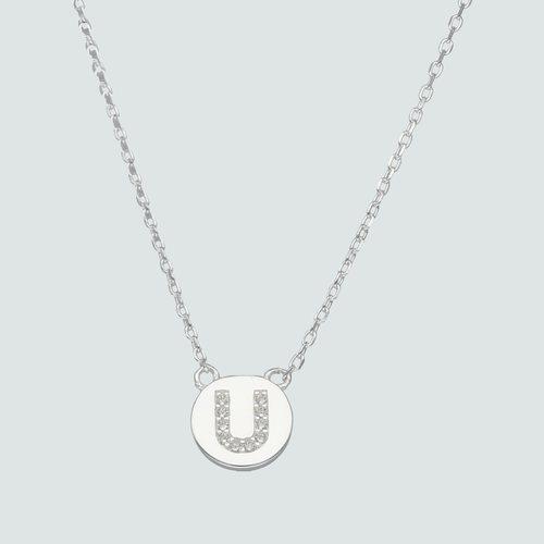 Collar Circulo Letra U con Circones