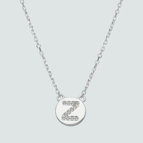 Collar Circulo Letra Z con Circones