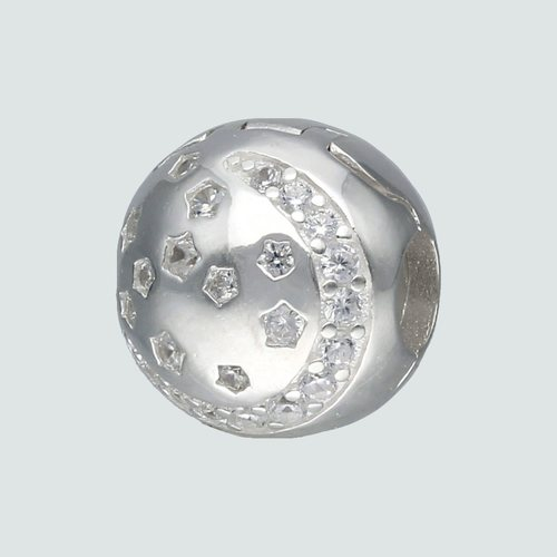 Colgante Charm Separador Media Luna Circones Estrella