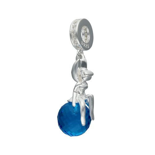 Colgante Charm Hada Cristal Murano Azul