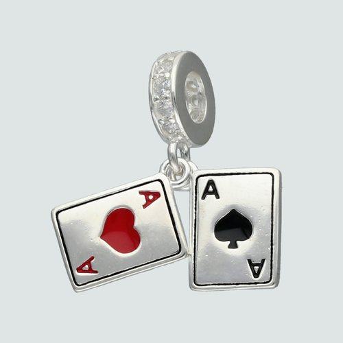 Colgante Charm Cartas de Poker