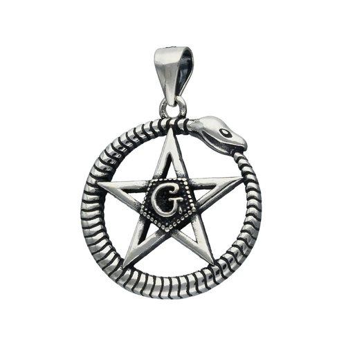 Colgante Serpiente con Estrella Pentagrama