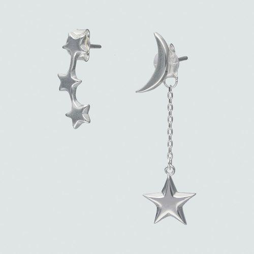 Aro Desigual Media Luna y Estrellas