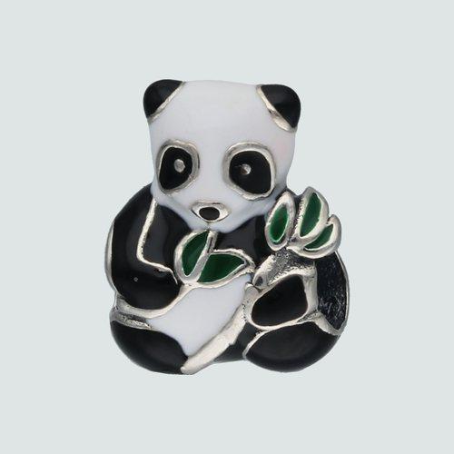 Colgante Charm Oso Panda Esmaltado