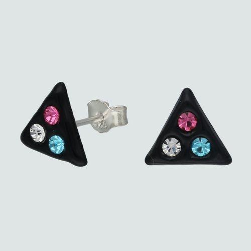Aro Triangulo Cristales Multicolor