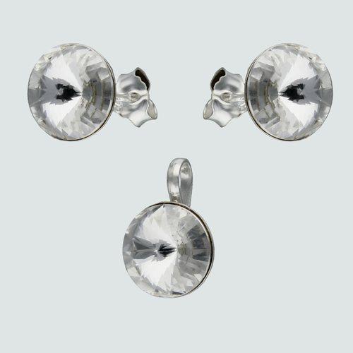 Conjunto Circulo Hecho con Cristal Swarovski® 8 mm