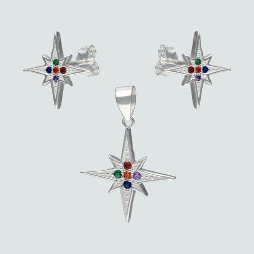 Conjunto Estrella Fugaz Circones Multicolor