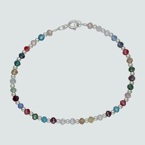 Pulsera Esferas Cristales Multicolor