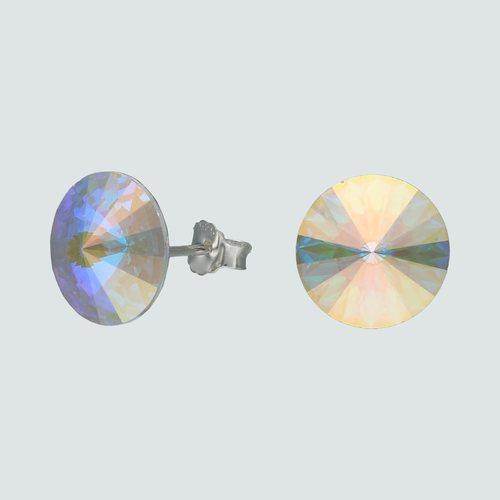 Aro Circulo Hecho con Cristal Swarovski® Tornasol 10 mm