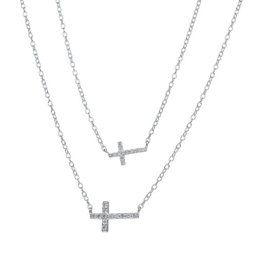 Collar Doble Cruces con Circones