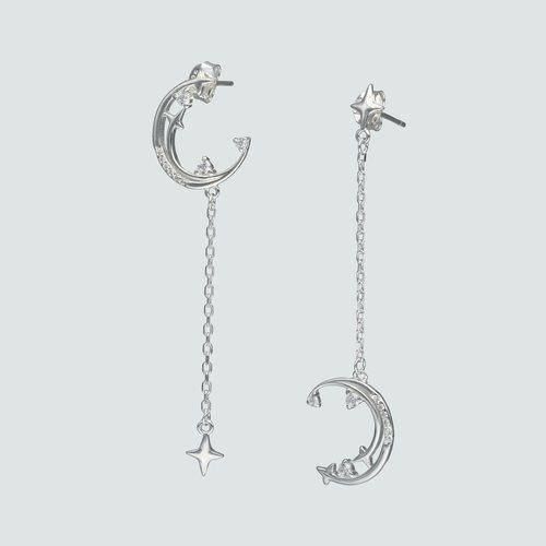 Aro Desigual Media Luna con Circones y Estrella Fugaz