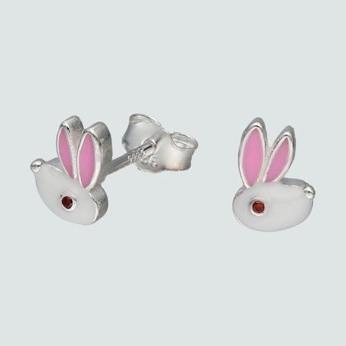 Aro Conejo con Circón Esmaltado
