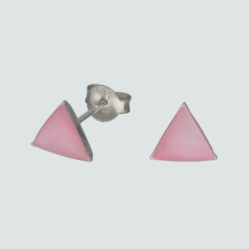 Aro Triangulo Nacar Rosado