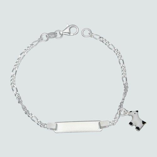 Pulsera Piocha Cartier Perro Esmaltado 16 cm