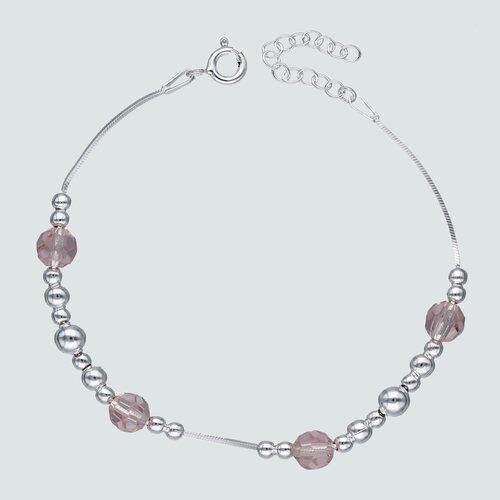 Pulsera Esferas Hecho con Cristal Swarovski® Rosado