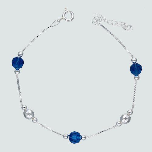 Pulsera Esferas Hecho con Cristal Swarovski® Azul