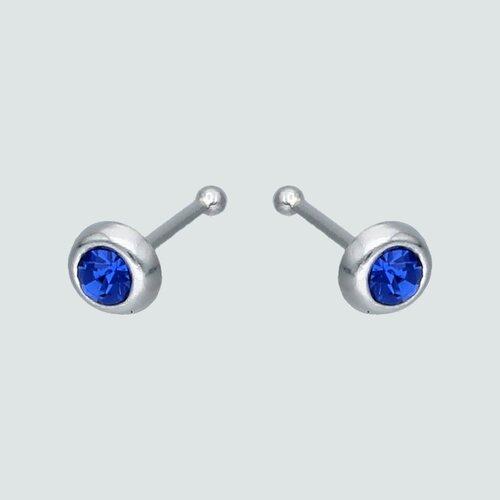 Aro Piercing Circón Azul 3 mm