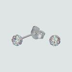 Aro Esfera Hecho con Cristal Swarovski® Tornasol 4 mm