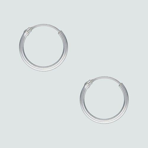 Aro Argolla Corte Cuadrado 14 mm