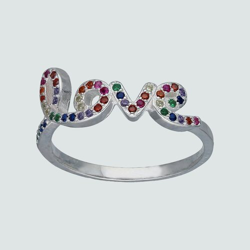 Anillo Love con Circones Multicolor