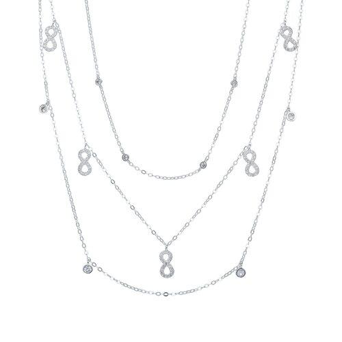 Collar Triple Infinitos con Circones