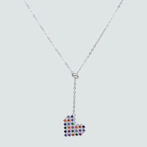 Collar Ajustable Corazón con Circones Multicolor