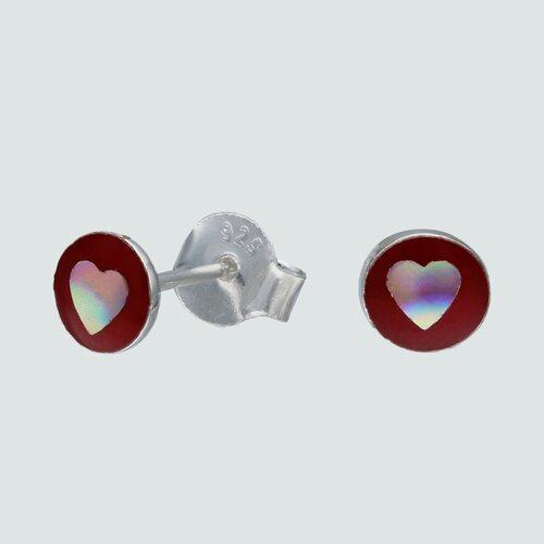 Aro Circulo Corazón Esmaltado