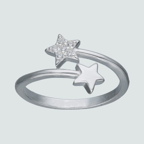 Anillo Midi Estrellas con Circones