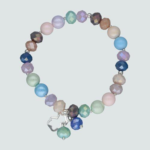 Pulsera Elástica Esferas Cristales Multicolor Oso