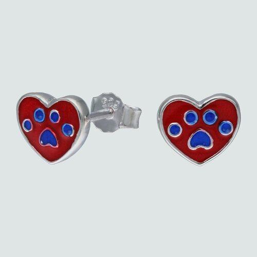 Aro Corazón con Huella y Esmaltado