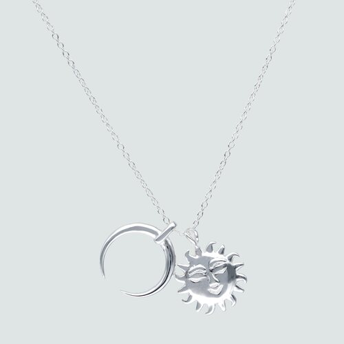 Collar Sol y Luna Invertida