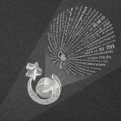 Colgante Estrella Media Luna Te Amo en 100 Idiomas