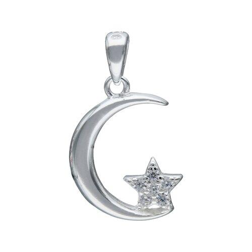 Colgante Media Luna con Estrella y Circones