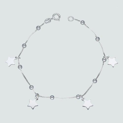 Pulsera Veneciana Estrellas y Esferas