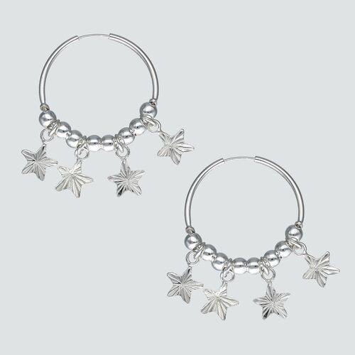 Aro Argolla Estrellas Facetadas y Esferas 22 mm