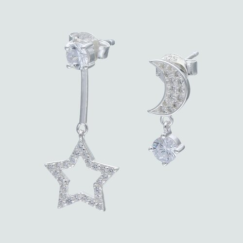 Aro Desigual Estrella y Media Luna con Circones