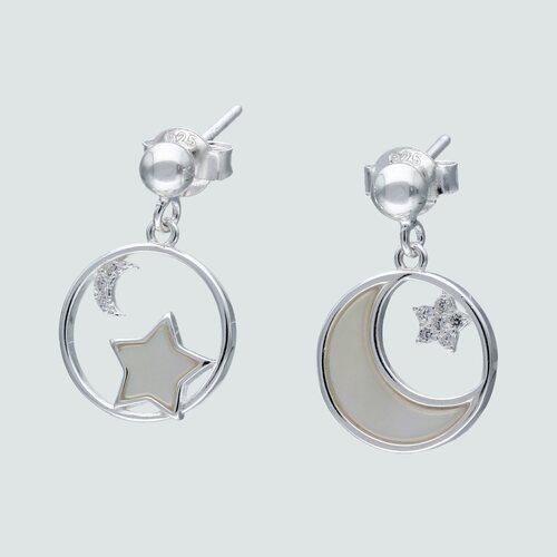 Aro Desigual Estrellas Media Luna con Nácar y Circones