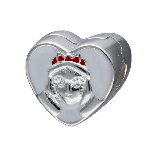 Colgante Charm Separador Corazón Blanca Nieves Esmaltada