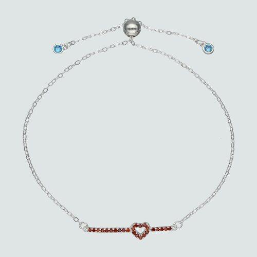 Pulsera Ajustable Corazón Circones Multicolor