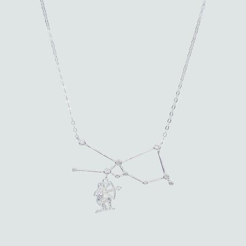 Collar Constelaciones Signo Sagitario con Circones