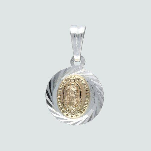 Colgante Virgen de Guadalupe Facetado y con Oro