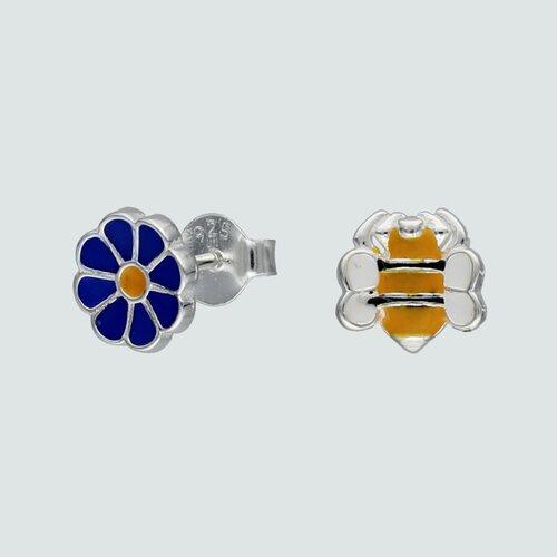 Aro Desigual Flor y Abeja Esmaltada