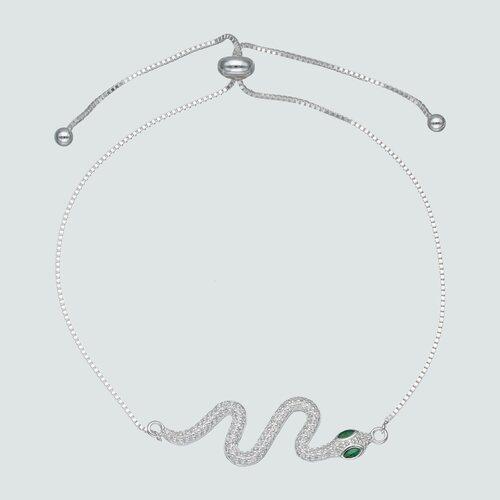Pulsera Ajustable Serpiente Circones Esmeralda